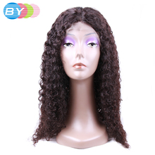 BY Virgin Human Hair Kinky Curly Brazilian Lace Front Wigs Natural Color 10-24inch Human Hair Wigs Front Lace Free Shipping