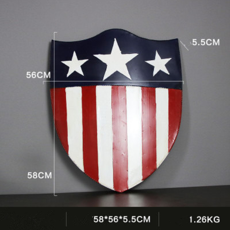 US special forces shield Large Vintage Metal Painting Boy Room Bar KTV Iron Ornaments Decor Retro Mural Poster Wall Sticker
