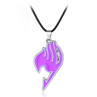 Wholesale New Fashion Fairy Tail Pendants Necklaces Anime Necklace Personality Alloy Pendant Necklace Couple Choker Necklaces
