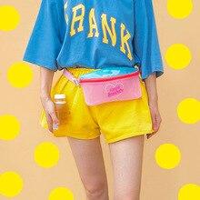Fashion Litthing Jelly Corssbody Bag Women Cute Waist Bag Children Daily PVC Handbag Girls Summer Holiday Beach Bag Coin Purse