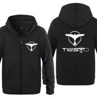 Mens Hoodie Rock Music DJ Tiesto Printed Hoodies Men Hip Hop Fleece Long Sleeve Zipper Jacket Coat Sweatshirt Skate Tracksuit