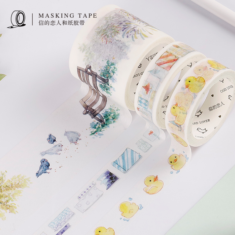 Daily Life Theme Washi Tape Decorative Adhesive Tape Diy Decor Scrapbooking Sticker Label Stationery