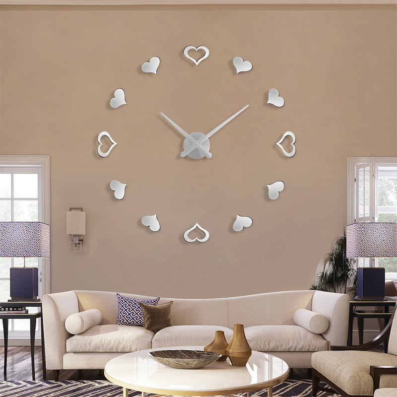 2019 jul stor Wall Clock mote Wall Watch Room dekorere bryllupsgave klistremerke Wall Clockreloj de pared Gratis frakt
