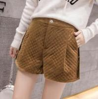 Velvet cotton shorts female new winter 2018 tall waist clip show thin boots to wear pants ywj B178