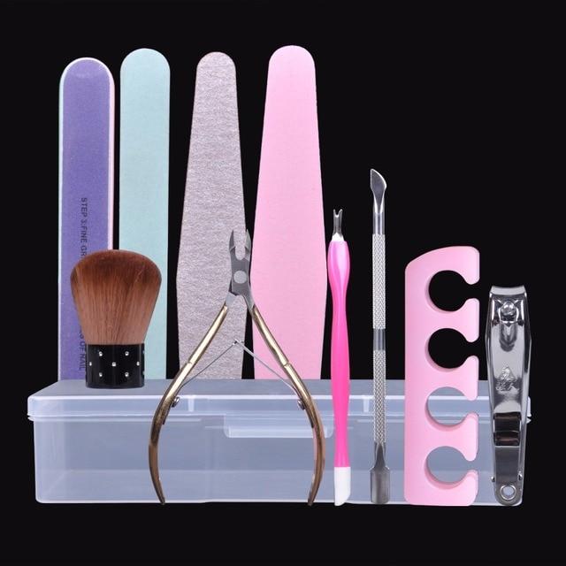 Biutee Nail Art Tool Empty Storage Box Plastic with Tweezers ...