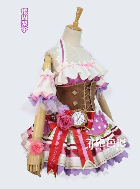 sakurauchi riko cosplay aqours chocolate valentines day uniform dress cosplay costume