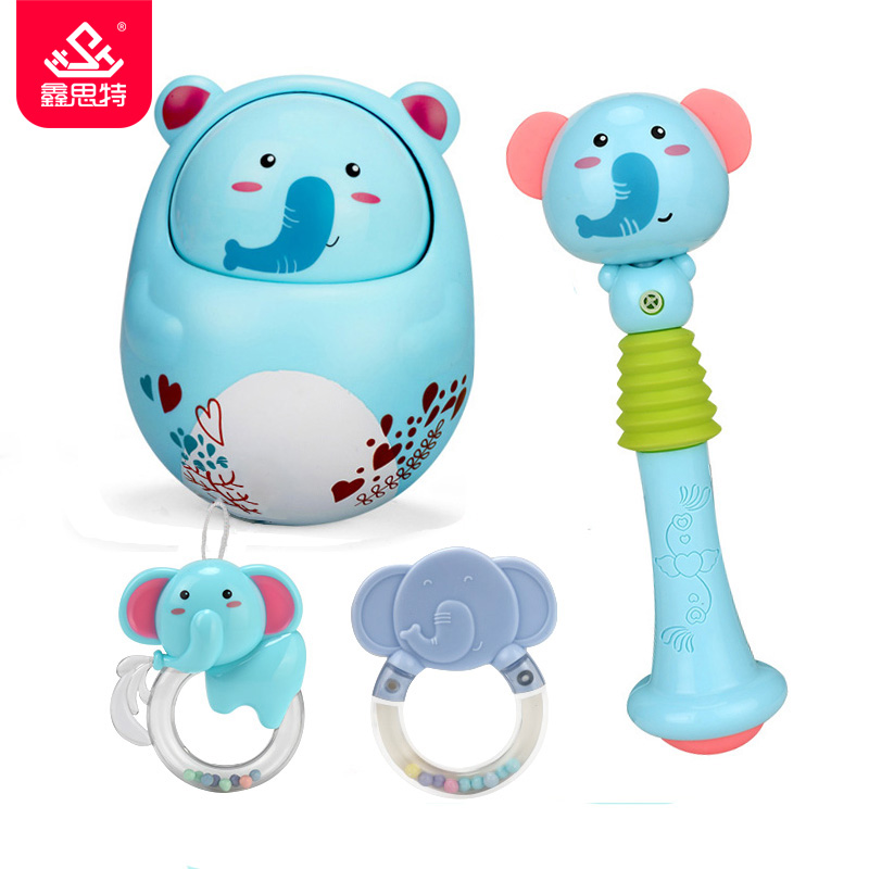 Baby & Toddler Toys Friendly Baby Creative Tumbler Doll Toy Newborn Teether Bell Rattles Educational Toys Chick Baby Music Early Teach Children Teether