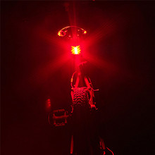 Yimistar #3022 USB Charge Bicycle Bike Light Mountain Bike Rear Tail Lamp Riding Caution Warning Light