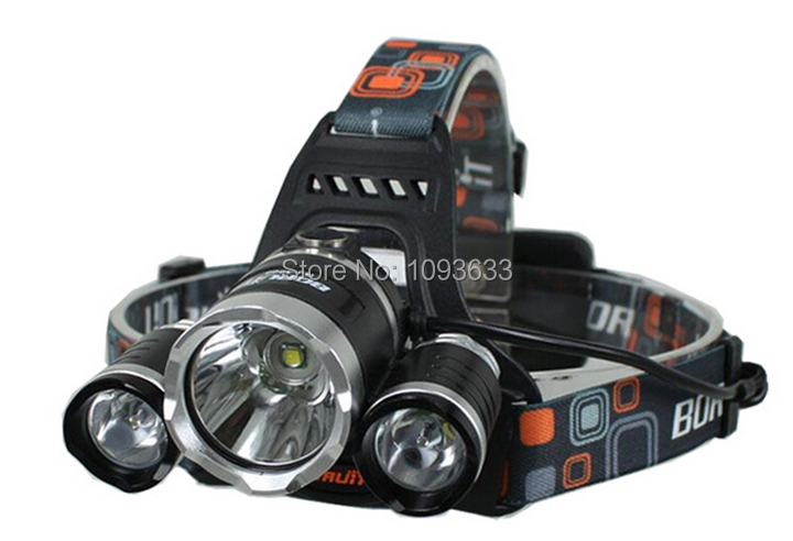 50% 5000 lumens headlamp +2*18650 battery +Charger 3x CREE XM-L XML U2 LED Lumens Headlight Light Head lamp - Shimao Fashion store