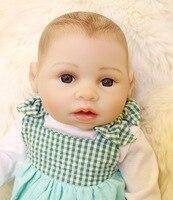 16 Inch African American Baby Doll 40 Cm Full Silicone Body Reborn Baby Dolls Drawed Hear