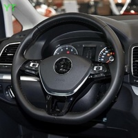 Auto steering wheel cover,steer wheel decoration trim for volkswagen vw sharan 2018, ABS chrome,auto accessories,1pc