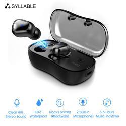 2020 sylaba D900P Bluetooth V5.0 TWS słuchawki prawdziwe bezprzewodowe Stereo D900P słuchawki sportowe 400mAh z mikrofonem do smartfonów Słuchawki douszne i nauszne Bluetooth Elektronika użytkowa -
