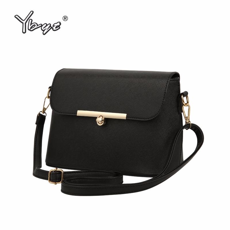 YBYT бренду 2018 нова мода випадкові сумки жінки клапоть розкішний PU шкіра клатчі дами невеликі плечі посланник crossbody сумки