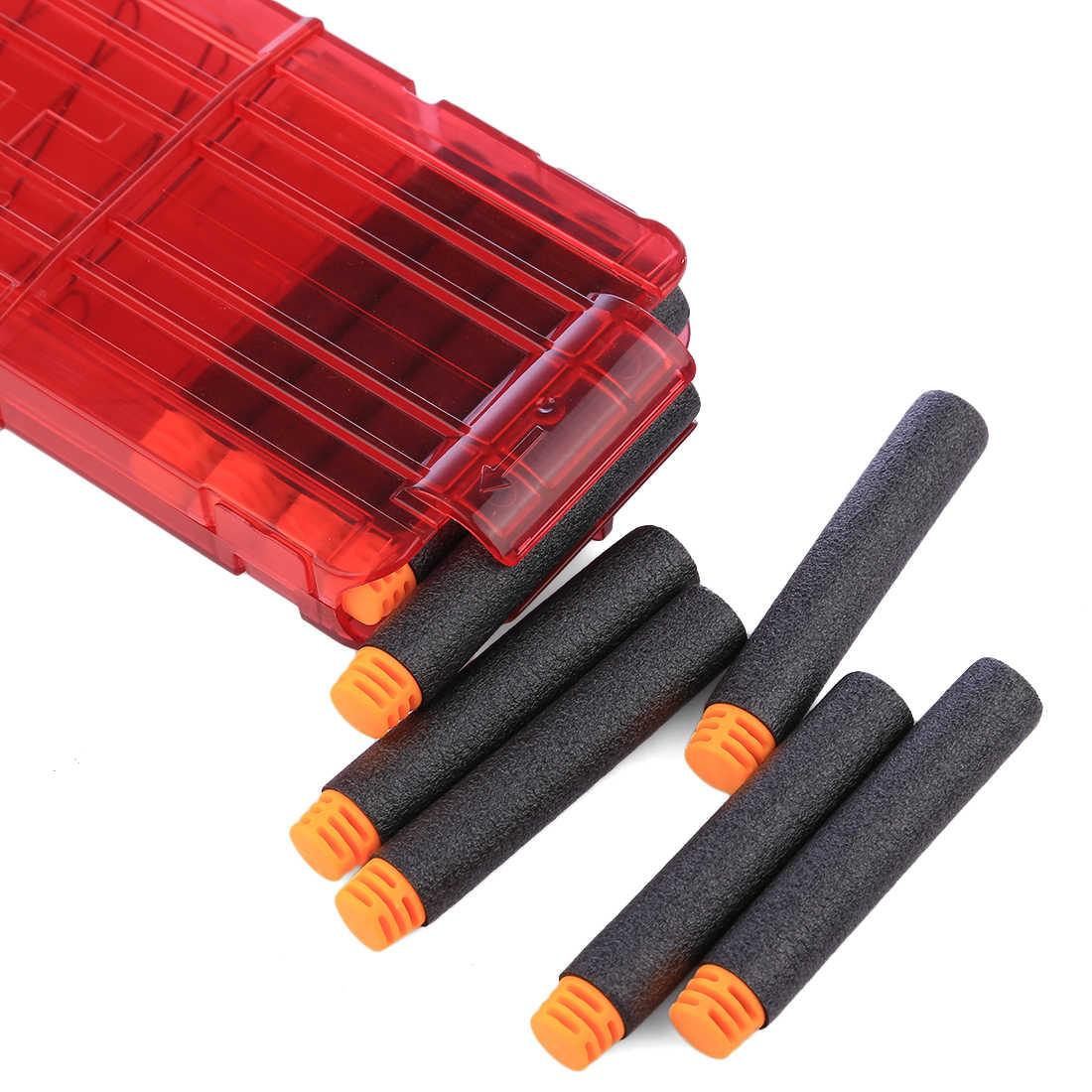 NFSTRIKE 1000 шт Универсальные мягкие пули Дартс для Nerf N-Strike Elite комплект бластеров плоская голова мягкие игрушки патроны для оружия 7,2*1,3 см