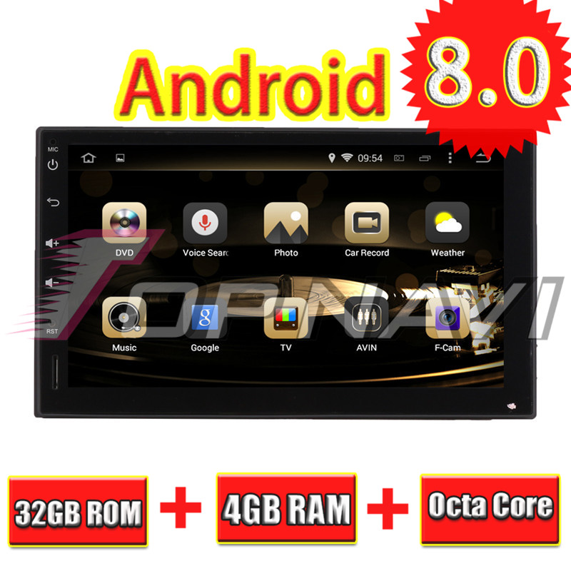 Topnavi 4+32GB Android 8.0 Car GPS Navigation For Octa Core Universal 7Inch Player Auto R NO DVD Head Unit Two Din 177*102mm