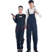New2017 남성 여성 턱받이 바지 작업 clothing 보호 repairman 스트랩 점프 슈트 작업 유니폼 민소매 작업