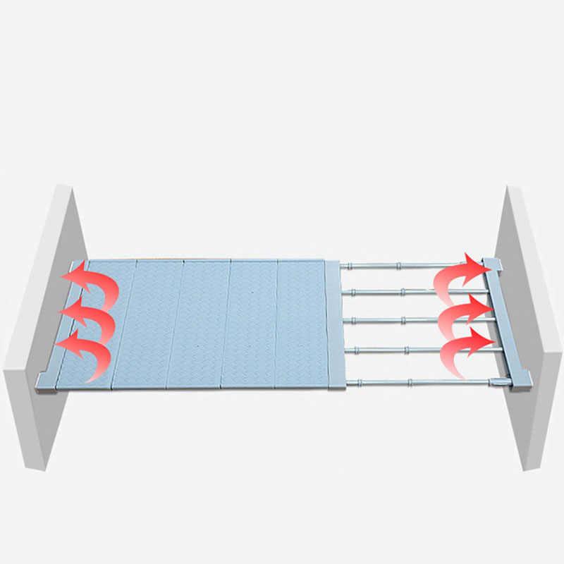 1 PC Adjustable Organizer Lemari Penyimpanan Rak untuk Dinding Dapur Rak Menghemat Ruang Lemari Hias Rak Kabinet Pemegang