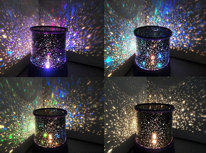 Us 4 78 40 Off Star Lighting Lamp Led Room Rotating Cosmos Stars Projector Night Light Starry Moon Sky For Kid Christmas In