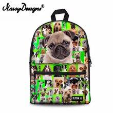 382494f3f Noisydesigns 2018 Mochila de lona lindo perro impresión mochilas  adolescentes escuela bolsa Mochila Feminina 6 colores