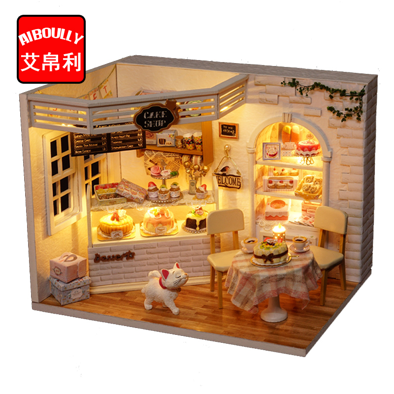 Us 2298 Cuteroom Diy Wood Dollhouse Kit Miniature With Furniture Doll House Princess Cake Room Angel Dream Best Birthday Gift For Girls In Doll