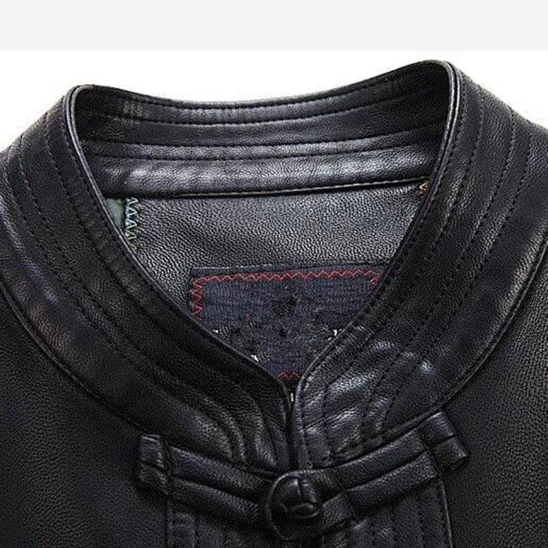 Uomini Cappotto di Pelle di Abbigliamento di Stile cinese degli uomini Del Ricamo Allentato Cappotti XXXL vestito di Linguetta Cineserie Giubbotti Tuta Sportiva - 6
