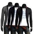 2016 Nova Primavera Terno Dos Homens Gola Jaqueta Casual Negócio Casaco de Três Botões de Outono Slim Fit Elegante Blazer Ternos 2M0014