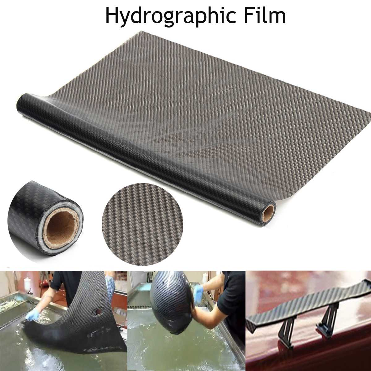 5x1m PVA Carbon Fiber Pattern Hydrographic Dipping Film Water Transfer Printing Film Motorcycle Accessories Decals  Stickers