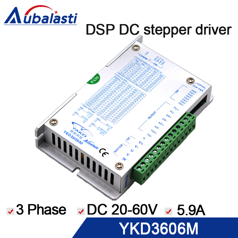 цена на DSP stepper motor driver YKD3606M 3 Phase DSP Stepper Drive 20V-60VDC 5.9A 32 bit DSP for 42-86mm for cnc engraver machine