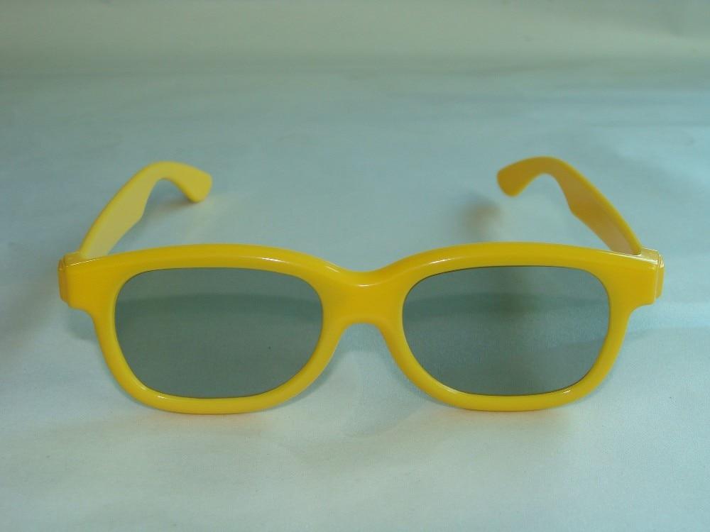 50tk / partii Kollane LASTELE 3D-prillid lineaarsed polarisatsioonid - Kaasaskantav audio ja video - Foto 2