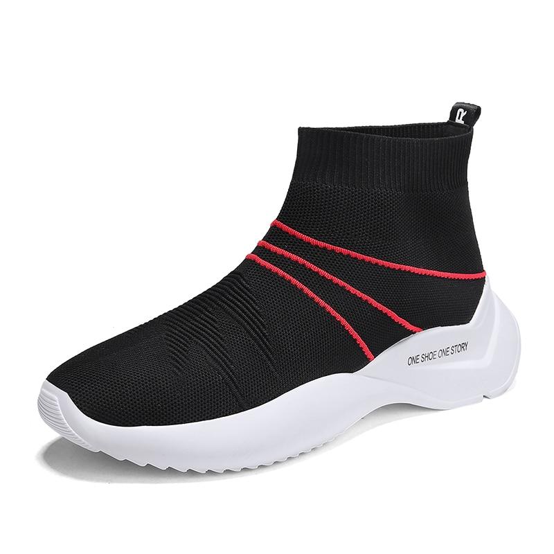 Mr Smile New Men Flying Woven Socks Shoes Tenis Masculino Superstar Breathable Flat Air Schoenen Mesh Slip-on Sneakers Summer