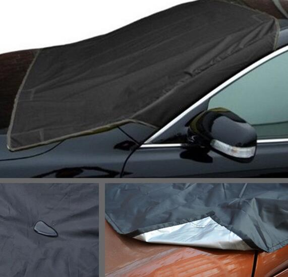 Car Truck Windshield Snow Cover Ice Frost Sun Shade Protector Tarp Flap Magnetic Fit For BMW Toyota Honda Mazda Ford Audi(China)