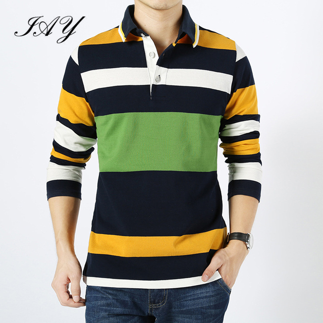 2016 New Arrive Classic Striped High Quality Cotton Men's Polo Shirts Turn-down Collar Cassual Male Pullover Big Size:4XL