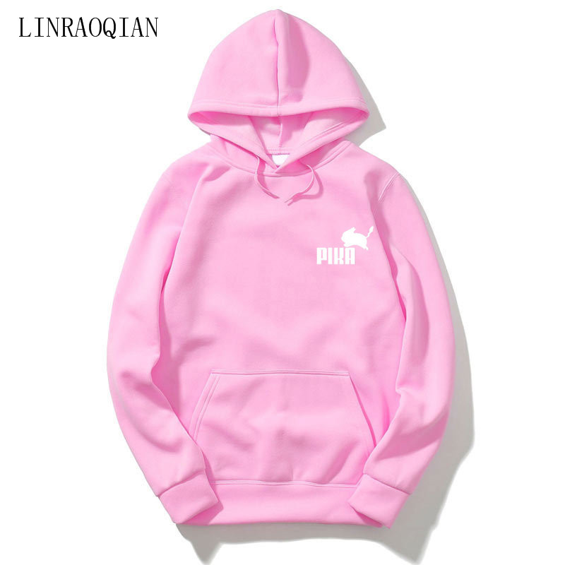 US $11.99 30% OFF|Brand Lovely Pokemon Pika Hoodies Men Women Sweatshirt Long Sleeve Hooded Sweatshits Men Pikachu Hoodie Sweatshirt Sweat Homme in