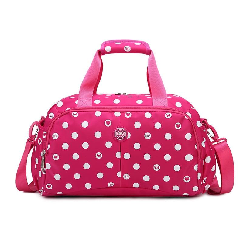 Women Travel Bags Large Capacity Girl Luggage Travel Duffle Shoulder Bags Nylon Handbag Weekend Tote Bag For Trip