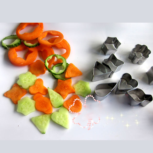 Hot!!Free Shipping12Pcs/set <font><b>Stainless</b></font> <font><b>Steel</b></font> Food Vegetable Cookie Cake <font><b>Cheese</b></font> Cutters Mould <font><b>Mold</b></font> Tool Bakeware Cake Tools image