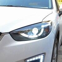 Car Styling for Mazda CX 5 Headlights 2013 2016 CX5 LED Headlight Angel Eyes DRL Bi Xenon Lens High Low Beam Parking Fog Lamp