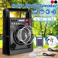 Outdoor Solar Dynamos AM/FM Radio Power Bank mit LED Lampe TF USB Lautsprecher Power Bank Funktion Für Telefon notfall Power Versorgung-in Radio aus Verbraucherelektronik bei
