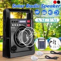 Outdoor Solar Dynamos AM/FM Radio Power Bank with LED Lamp TF USB Speaker Power Bank Function For Phone Emergency Power Supply