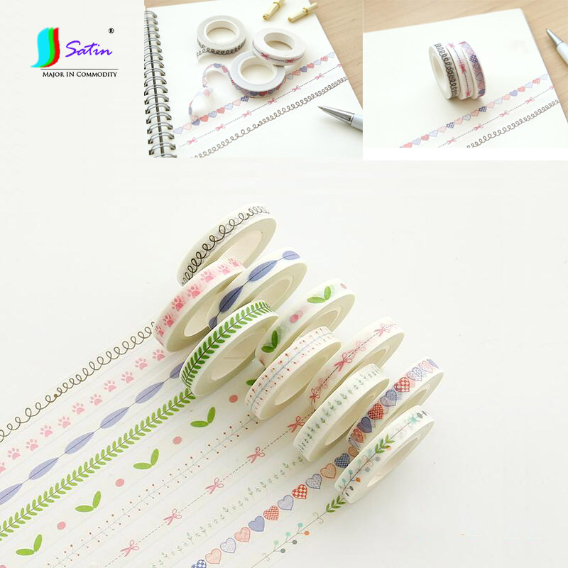 Notebookphoto Album,Baby Painting Decoration Material Superfine 8MM Width Japan Paper Tape S0411L