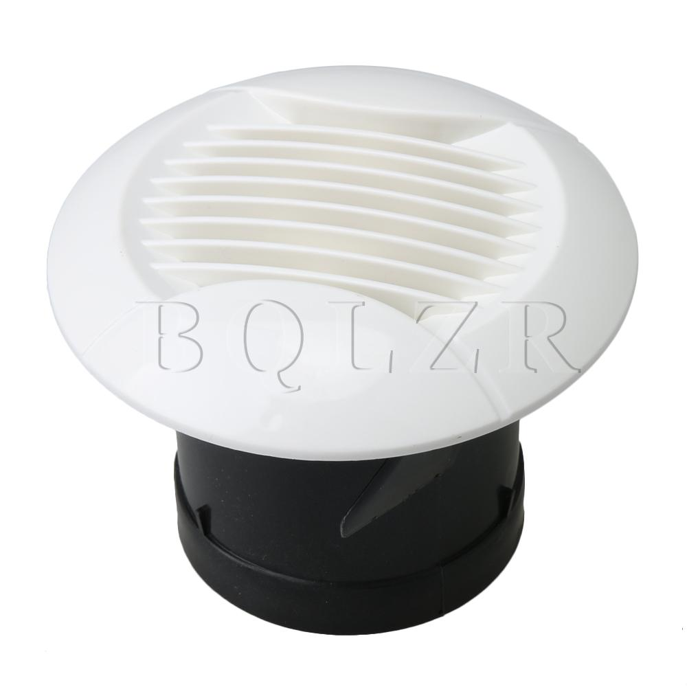 BQLZR 7.5cm Mount Dia White Air Vent Grille W/ Straight Leaf Mesh Outlet Cover