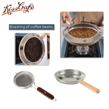 Handmade Coffee Roaster Machine Stainless Steel Made Hand Use Coffee Bean Baker Wooden Handle Roasting Machine цена и фото