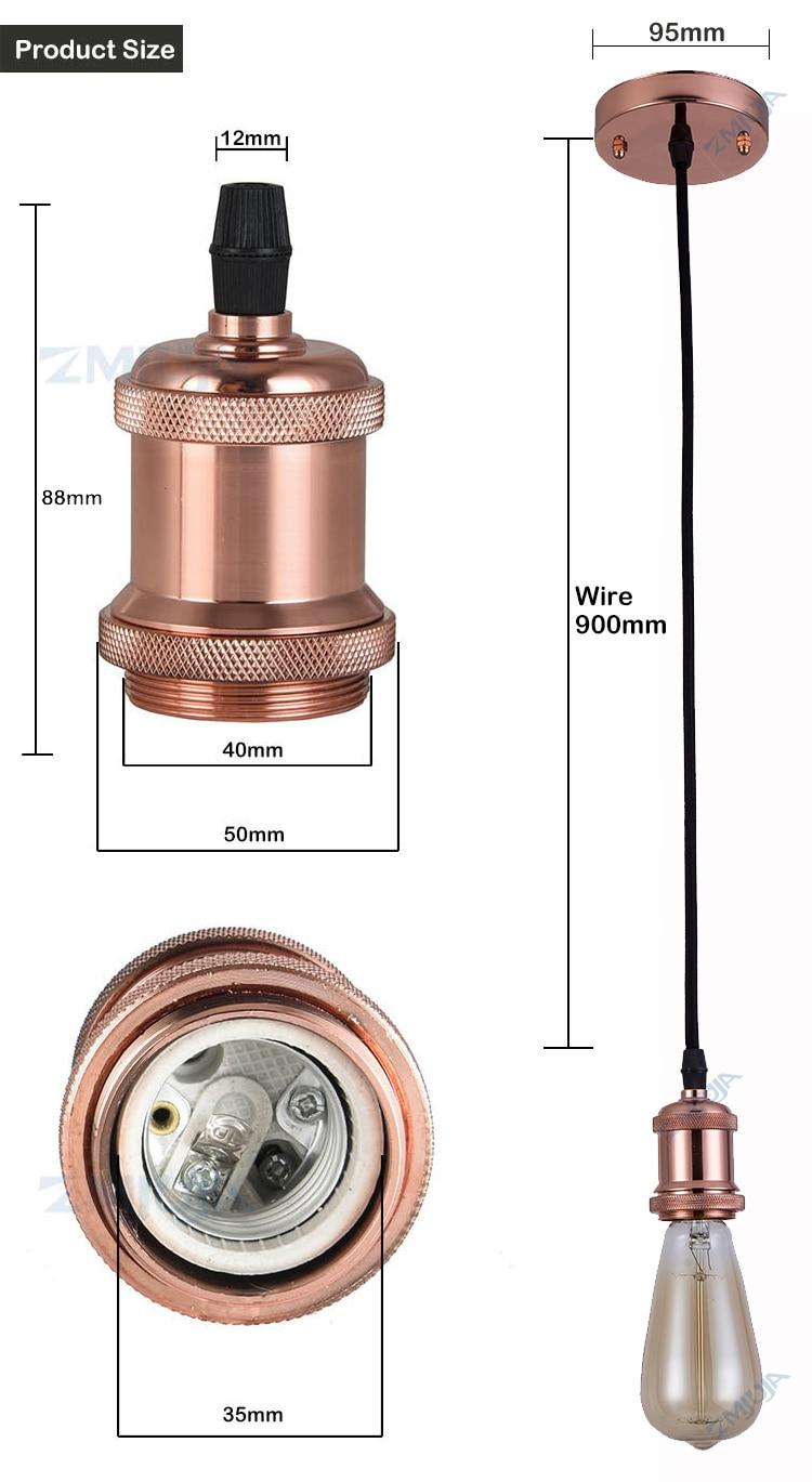 detail pendant lamp holder e27 light base-1