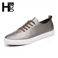 Vintage Women Casual Shoes Multi Solid Colors High Quality Soft PU Upper Lace Up Flat With