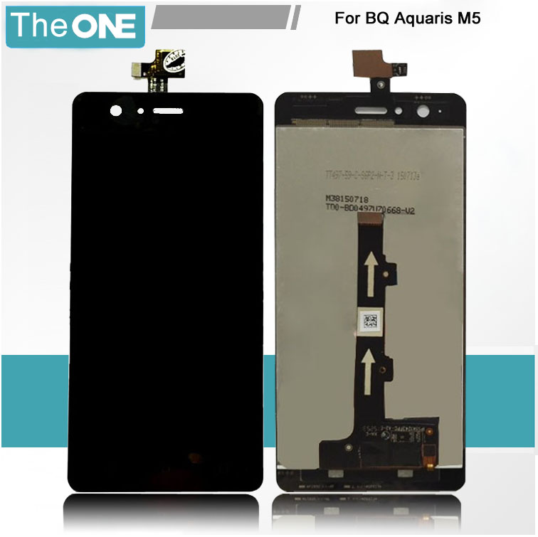 5 pcs/lot For BQ Aquaris M5 LCD Display Screen Digitizer Assembly Replacement Black Free Shipping