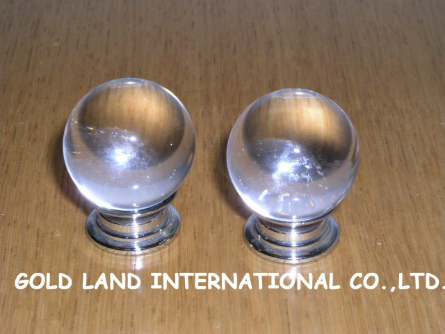 D30mm Free shipping 100pcs/lot glossy crystal glass furniture knob