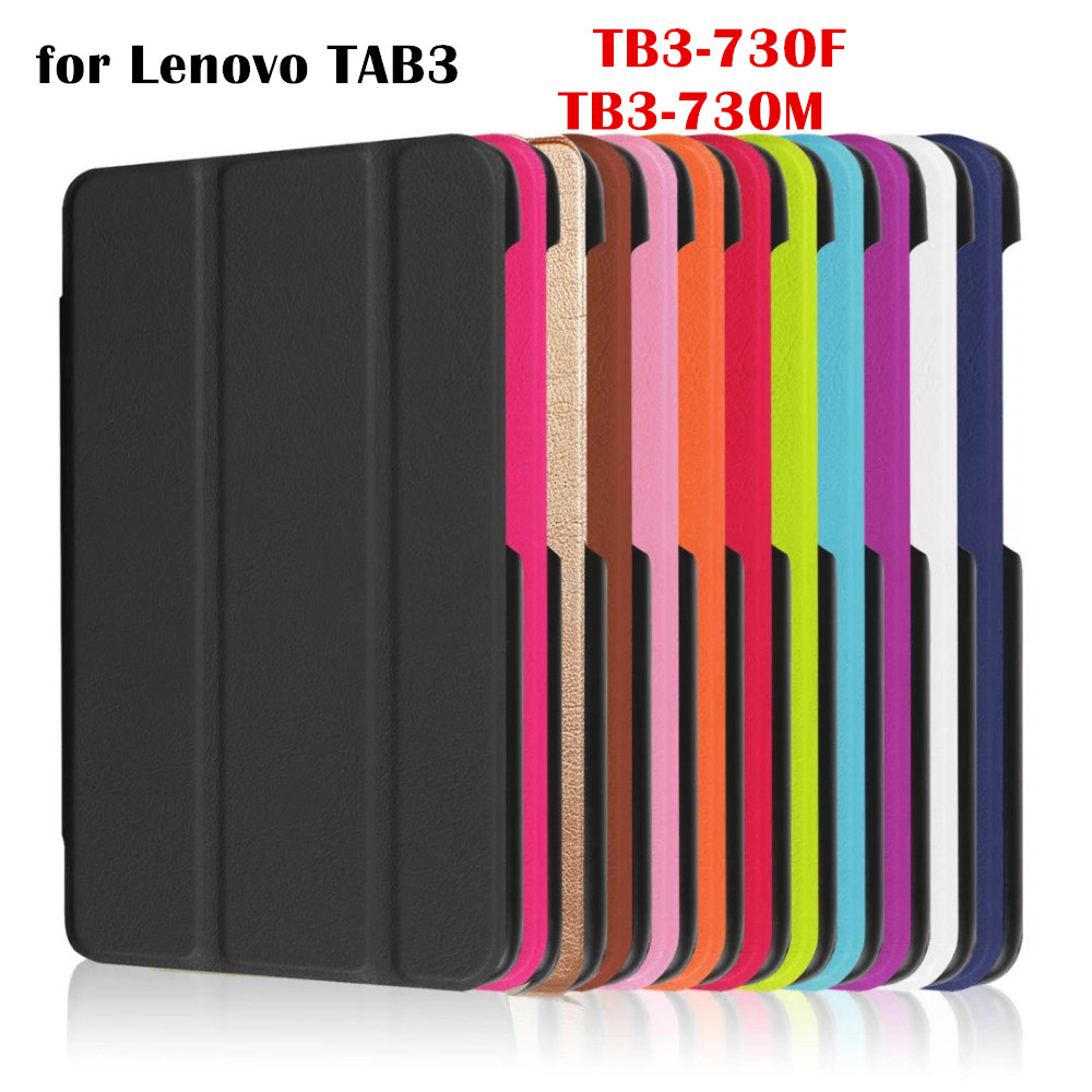 Magnet Leather Case Flip Cover for Lenovo TAB3 Tab 3 7 7 730 730F 730M 730X TB3-730F TB3-730M 7.0 Tablet Case Smart Cover pu leather cover stand case for lenovo tab3 tab 3 7 730 730f 730m 730x tb3 730f tb3 730m 7 0 tablet 2pcs screen protector