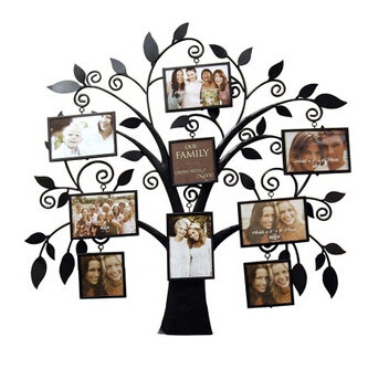 European Wrought Iron Photography Props Photo Frame Picture The Tree Wall Leaves Setting In From Home Garden