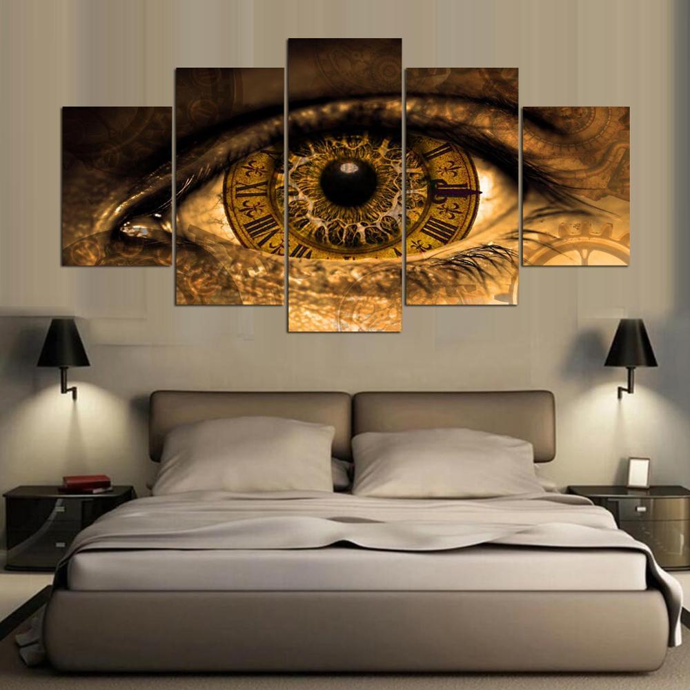 Aliexpress.com : Buy 5 panel Modern steampunk Art print canvas art ...
