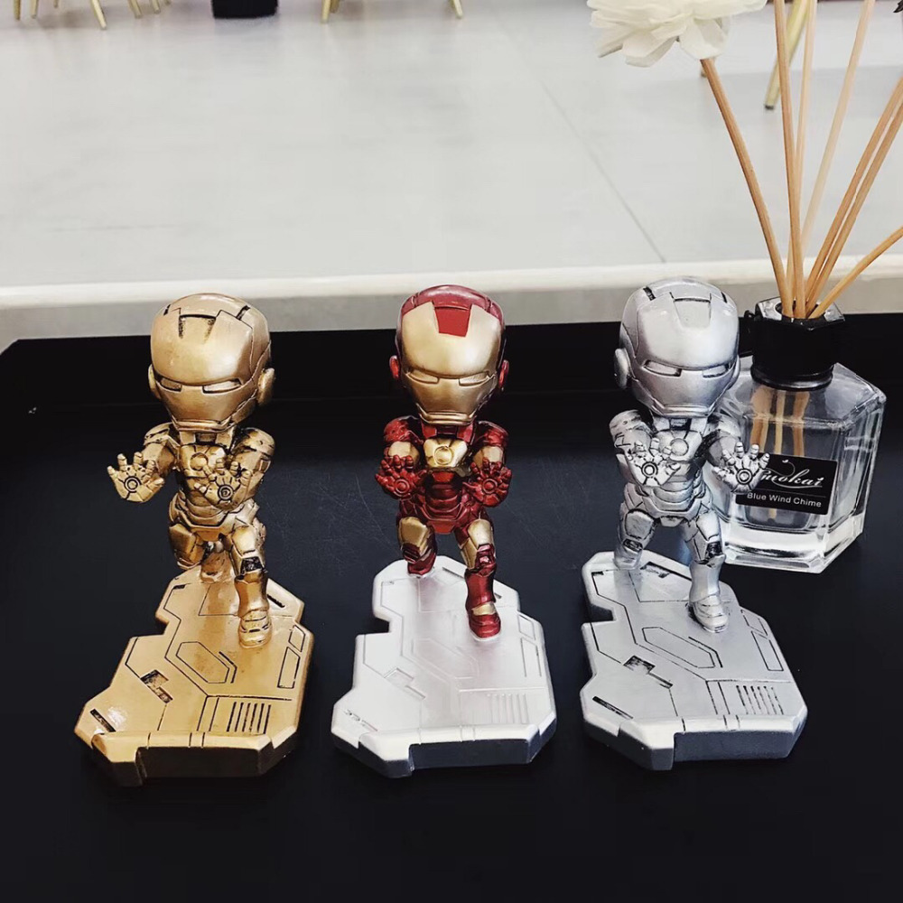 Fashion Mobile Phone Smartphone Desk Stand Marvel Movie Iron Man Phone Mini Desk Stand For iPhone Samsung SonyHTC For All model