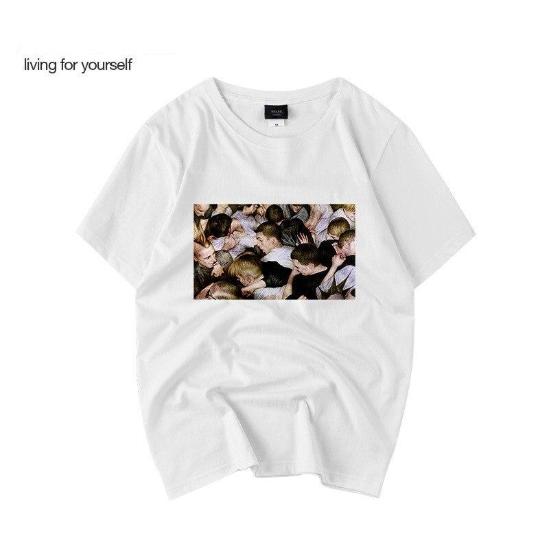 Summer new original tshirt hip hop trend printing T shirt men streetwear thin section round neck short sleeved T-shirt WGTX36